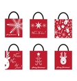 Shoping Bags for Christmas vector image vector image