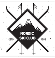 Emblem of Ski Club Vintage Mountain winter badge vector image