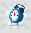 abstract alarm clock with burst and halftone vector image