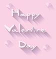 happy valentine day vector image