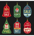 christmas discount tags vector image