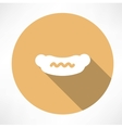 Sausage with mustard icon vector image vector image