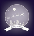 Christmass village design with lettering vector image