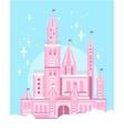 Cute Pink Castle vector image