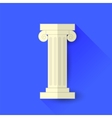 Single Greek Column vector image vector image