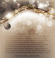 Elegant Christmas Greeting Card vector image