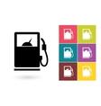 Gas pump icon vector image vector image