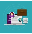 employee database human resource software system vector image