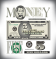money 5 Five Fade BG vector image