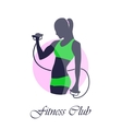 green pink icon fitness club vector image