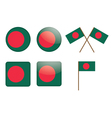 badges with flag of Bangladesh vector image vector image