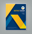 abstract yellow line design on blue background vector image