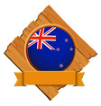 badge design for flag of new zealand vector image