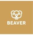 Beaver lines an outline monochrome vector image