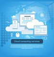 cloud computing services template web banner with vector image