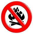 fire danger sign vector image
