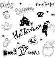 Halloween doodle art vector image