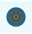 Icon with colored ship wheel vector image