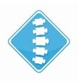 medical diagnostic spine center logo vector image