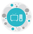 of filming symbol on tv icon vector image