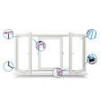 plastic window profile energy saving vector image