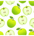 realistic green apple background pattern on a vector image
