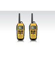 realistic walkie talkie waterproof devices vector image