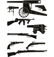 silhouettes of classic firearms vector image