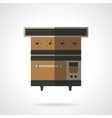 Stove flat color icon vector image