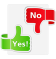 Yes and No Signs vector image