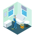 Floor Cleaning Isometric Design vector image