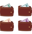 Wallet full curancy vector image vector image
