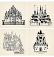 Old cities vector image