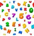 Seamless colorful children alphabet pattern vector image