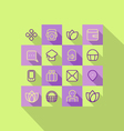 Icons set Line vector image