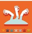 Flat design hand vector image