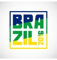 Brazil abstract background in color of flag vector image