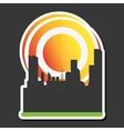 Sun design city icon summer concept vector image