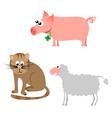 animal cartoons vector image