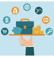 banking service concept in flat style vector image