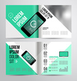 brochure design vector image