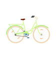 classic city bicycle isolated icon vector image