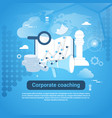 corporate coaching template web banner with copy vector image