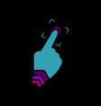 fingerprint scanning symbol vector image