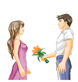 Man and woman on dating vector image