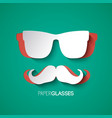 mustache and glasses hipster style design vector image