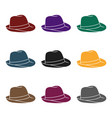 panama hat icon in black style isolated on white vector image