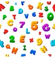 Seamless colorful children alphabet pattern vector image