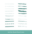 set of grunge brushes vector image