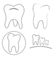Tooth sign icon vector image